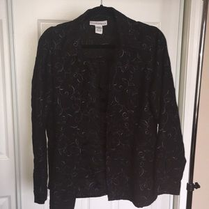 SAG HARBOR black embroidered button down shirt